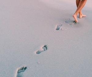 beach, foot, and goals image