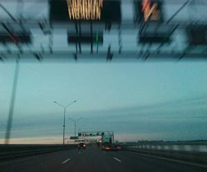 road, sad, and sky image
