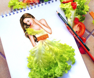 art and veggies image