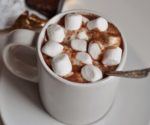 christmas, marshmallows, and winter image