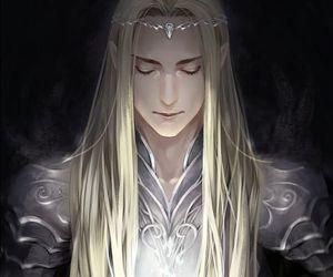 elf, hobbit, and thranduil image