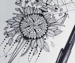 draw, Tattoos, and ink image