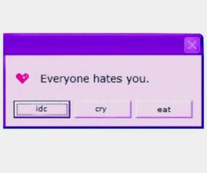 idc, hate, and cry image