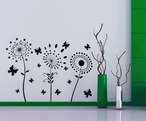butterfly, wall decals, and blossom image