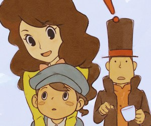 professor layton, luke triton, and emmy altava image