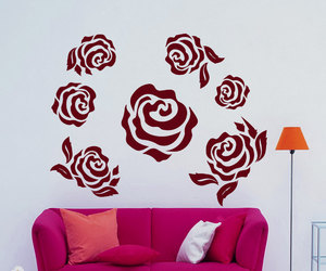 flower, home decor, and many roses image