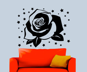 flower, rose, and stars image