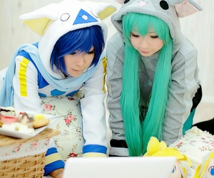 cosplay, hatsune miku, and vocaloids image