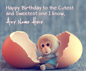 birthday wishes, cute monkey, and cute birthday wishes image