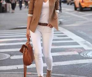 brown, satchel, and chic image
