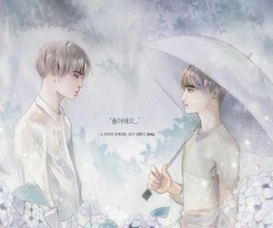couple, exo, and fanart image