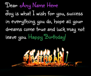 Wishes Birthday And Name Cards Image