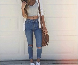 beuty, fashion, and jeans image