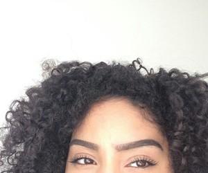 black girls, hair goals, and eyebrow goals image
