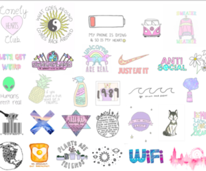 background, Collage, and cute stuff image