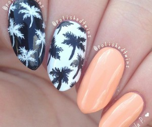 beach, nail, and nail polish image