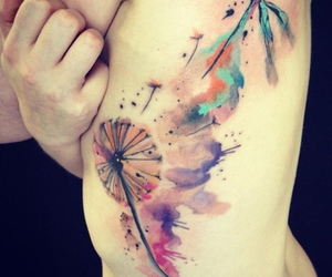 tattoo and watercolor image