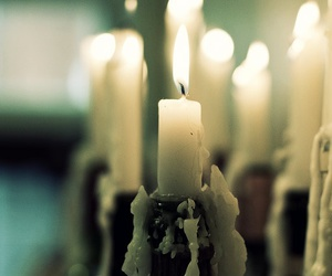 candles, light, and vintage image