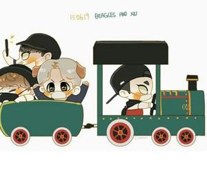 exo, minseok, and baekhyun image