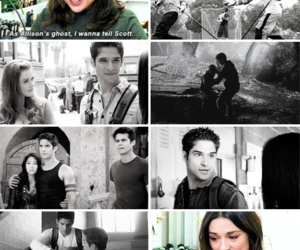 crystal reed, allison argent, and scott mccall image