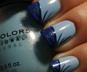 nails, blue, and fingers image