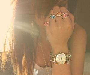 girl, rings, and tan image