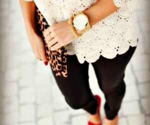 lace, red, and shoes image