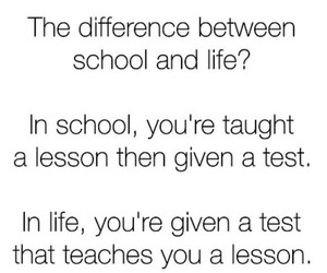 life, school, and test image