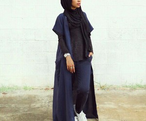 hijab, style, and ootd image