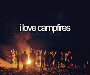 campfire, quote, and text image