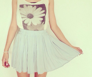 flowers, skirt, and pretty image