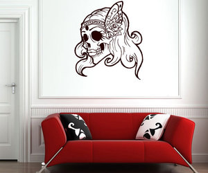 art, couch, and decal image