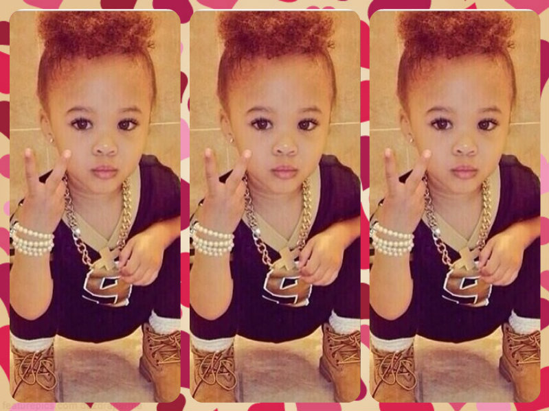 cute, swag, baby, girl, adorable on We Heart It