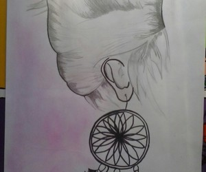 draw, pencil, and pink image