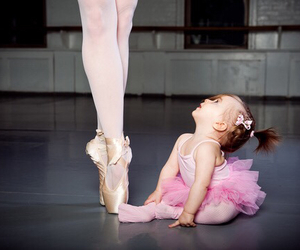 baby girl, girls, and ballet image