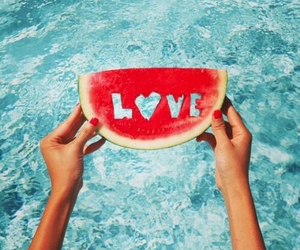 love, summer, and watermelon image