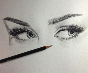 eyes, miley cyrus, and draw image