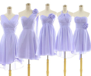 bridesmaid, dress, and lavender image