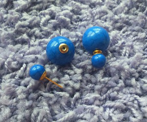 blue, cracked, and earrings image