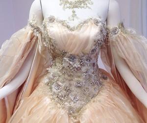 beautiful dress, firefly path, and wedding dress image