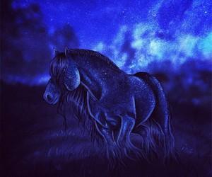art, drawing, and horses image