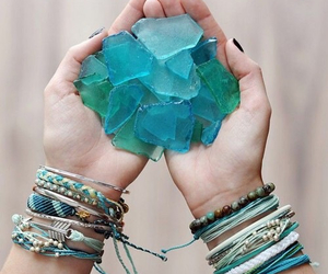 blue, bracelet, and turquoise image