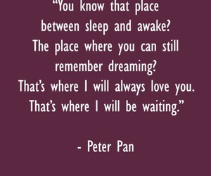 peter pan, quote, and love image