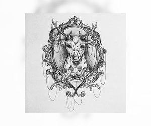 inspiration, sketch, and tattoo image