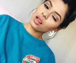 girl, beauty, and eyebrows image
