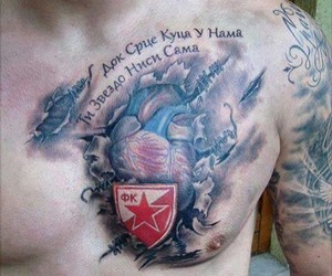 football, red star, and Serbia image