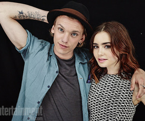 lily collins, Jamie Campbell Bower, and city of bones image