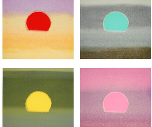 andy warhol, sunsets, and conserve land image