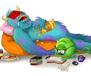 monster, read, and sleep image