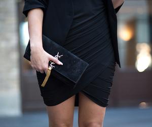 girl, bag, and dress image